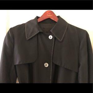 YSL Black Raincoat Trench Coat